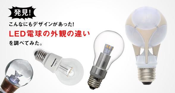 こんなにもデザインがあった!LED電球の外観の違い2